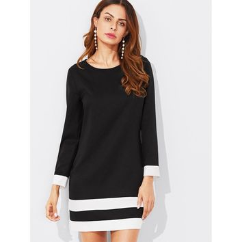 Work This Out Dress - Black & White