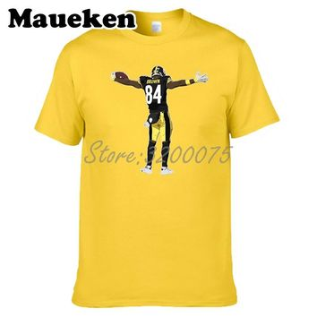 Men Antonio TD Brown 84 Pittsburgh T-shirt Clothes T Shirt Men's for Steelers fans gift o-neck tee W17070203