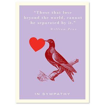 Sympathy Quote with Bird Card