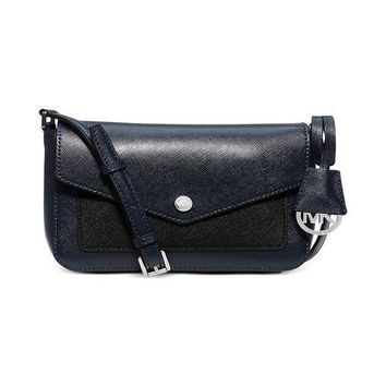 DCCKUG3 MICHAEL Michael Kors Womens Greenwich Small Crossbody (Navy/Black)