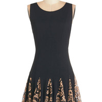 ModCloth Mid-length Sleeveless A-line From Here to Flare Dress