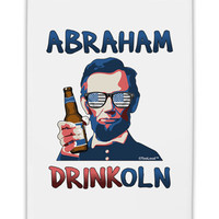 "Abraham Drinkoln with Text Fridge Magnet 2""x3"" Portrait"