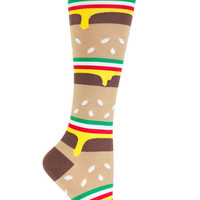 Hamburger Stack Knee Socks