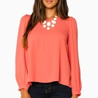 ELAINA BLOUSE IN CORAL
