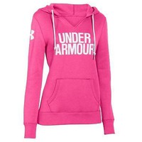 Under Armour Women's Favorite Fleece Word Mark Hoodie