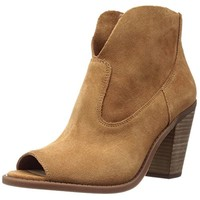 Jessica Simpson Womens Chalotte Suede Open Toe Ankle Boots
