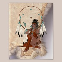 American Indian Princess Dream Catcher Poster from Zazzle.com
