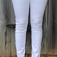 Colored Skinnies- White