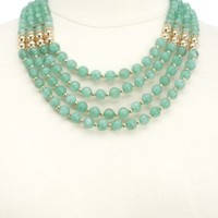 Tiered Jade Beaded Necklace