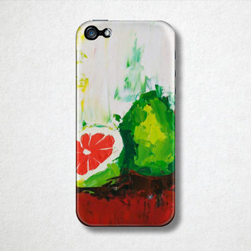 Citrus Fruit Art, Fruit Phone Case, Gifts for Her, Samsung Galaxy S4, iPhone Food Cases, Artistic Phone Case, Abstract Phone Case, Pomelo