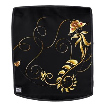 Butterflies Gold Backpack