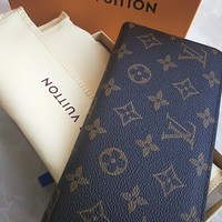 One-nice™ Authentic LOUIS VUITTON Monogram Brown Canvas Wallet