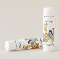 Baby Zoo Animals Birthday Favors Lip Balm