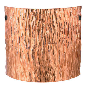Besa Lighting 7118CF-BK Tamburo 11 Stone Copper Foil Black ADA Sconce