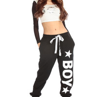Boy London Logo Print Jogger Pants