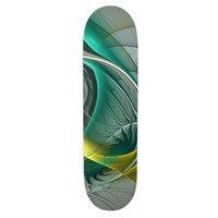 Fractal Evolution, abstract Art Skateboard Deck