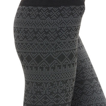 Women's Regular Diamond Aztec Fleece Leggings