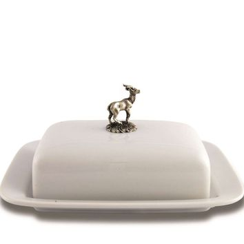 Stag Butter Dish