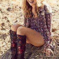 Free People Floral Joe Lace Up Boot