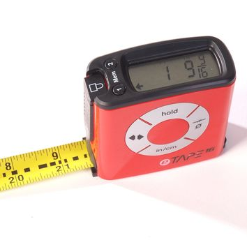 eTape16 ET16.75-db-RP Digital Tape Measure, 16', Red (INCHES ONLY VERSION)