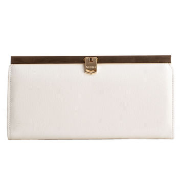 Corsica-Slim French Clasp Clutch Wallet-Saffiano White