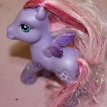 Vintage My Little Pony w Name Dreams, Purple with Shades of Pink Hair
