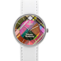 Vivienne Westwood Women's Women's Round White Leather Watch - White