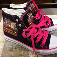 Red Cheeks Pink Shoes Five Nights At Freddys Fan Women or Kids only