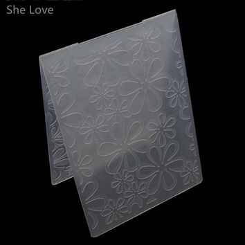 She Love Scrapbooking Embossing Folder Six Leaves Plastic Template DIY Card Making Decoration Papercraft