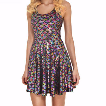 Mermaid Beyond the Sea Skater Dress Iridescent