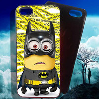 Minion Batman Police Line iPhone 4 4S iPhone 5 5S 5C and Samsung Galaxy S3 S4 S5 Case