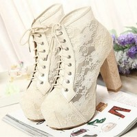 Lace up ankle boots from Style Revision