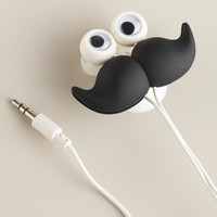 Mustache Earbuds, Stand and Cord Wrap - World Market