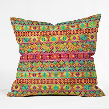 Sharon Turner Acid Weave Throw Pillow