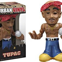 Funko Rocks Urban Vinyl Tupac Vinyl Figure Damaged Package, Mint Contents