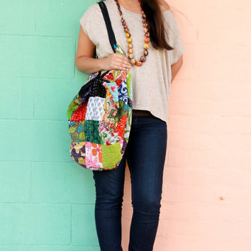 Misa Cotton Kantha Stitch Boho Style Bag