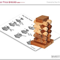 On Sale Pisa Tower Puzzle, Wooden Game, 3D Puzzle, Brain Teaser, Mystery, Puzzle Game