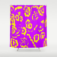Purple and Yellow Shower Curtain Abstract Purple Shower Curtain Yellow Abstract Shower Curtain Purple Yellow Floral Shower Curtain