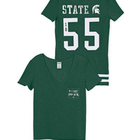 Michigan State V-Neck Pocket Tee - PINK - Victoria's Secret