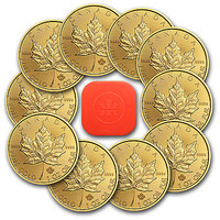 2015 1 oz Gold Canadian Maple Leaf BU (Lot, Roll, Tube of 10) - SKU #87704
