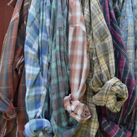 Sun Washed Vintage Flannel Shirts