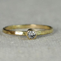 Classic 14k Gold Filled CZ Diamond Ring