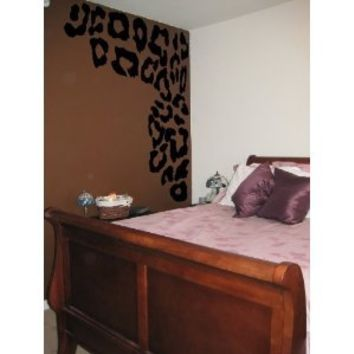 Leopard Print Spots Vinyl Wall Decal Decor
