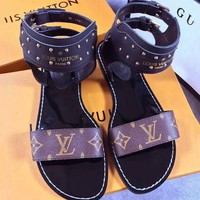 LV ''Louis Vuitton'' Slippers LV Fashionable Sandals casual Monogram Shoes