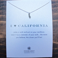 dogeared I ♥ California Pendant Necklace, Sterling Silver