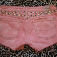 Baby Pink Studded Shorts by BangYourHeadClothing on Etsy