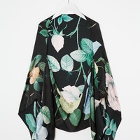 Ted Baker Distinguish Rose Print Cape