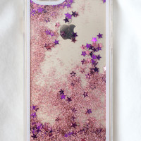 Pink Star Glitter iPhone Case