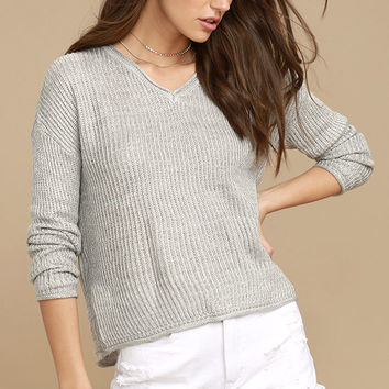 Olive & Oak Bali Light Grey Sweater