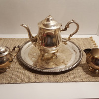 Silver tea set, tea set, silver tea pot, silver teapot, vintage tea set, tea set vintage, tea set silver, silver plated tea set,